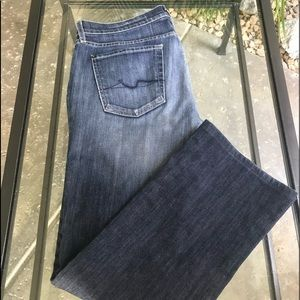 7 For All Mankind 🌟 Bootcut Indigo Fade Jeans